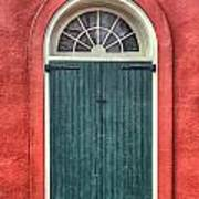 French Quarter Arched Door Art Print by Brenda Bryant