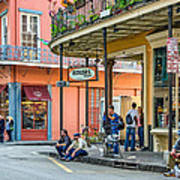 French Quarter - Hangin' Out Art Print