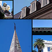 French Quarter Looking Up Art Print