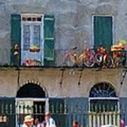 French Quarter Stroll 2 - New Orleans Art Print