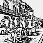 French Quarter - The Final Ride Art Print