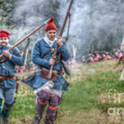 French Soldiers Battle Fury Fort Ligonier Art Print
