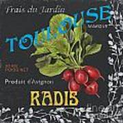 French Veggie Labels 3 Art Print by Debbie DeWitt
