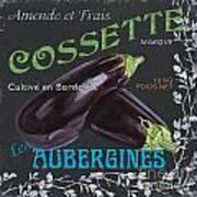 French Veggie Labels 4 Art Print