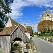 French Village Road Art Print by Olivier Le Queinec