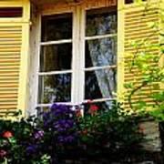 French Window Dressing Art Print