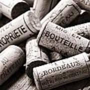 French Wine Corks Art Print