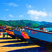 Frenchtown Boats Art Print