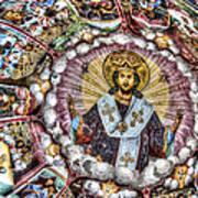 Fresco From Rila Monastery  Art Print