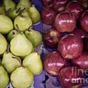 Fresh Apples And Pears On A Street Fair In Brazil Art Print by Ricardo Lisboa