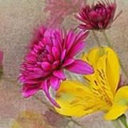 Fresh Flowers Painted Art Print
