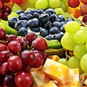 Fresh Fruits And Cheese Art Print