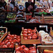 Fresh Fruits And Vegetables Art Print