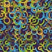 Fresh Geometric Circle Segment Pattern Art Print