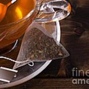 Fresh Glass Cup Of Tea Art Print