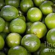 Fresh Limes On A Street Fair In Brazil Art Print