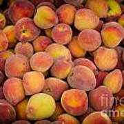 Fresh Peaches On A Street Fair In Brazil Art Print by Ricardo Lisboa