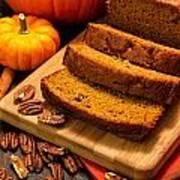 Fresh Pumpkin Bread Art Print