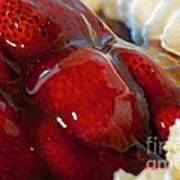 Fresh Strawberry Pie Art Print