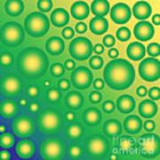 Fresh Tropical Bubbles Art Print