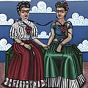 Frida Beside Myself Art Print