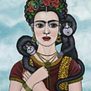 Frida In The Sky Art Print