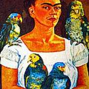 Frida In Tlaquepaque Art Print