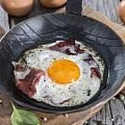 Fried Egg In A Pan Art Print