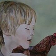 Friendly Chicken Art Print