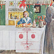 Friends From The Town - Dining Room Art Print