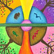 Friends In The Earth Mandala Art Print