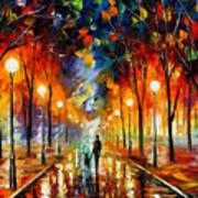 Friendship - Palette Knife Oil Painting On Canvas By Leonid Afremov Art Print