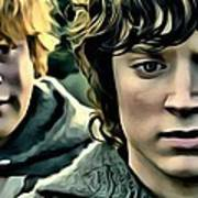 Frodo And Samwise Art Print