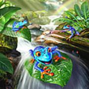 Frog Capades Art Print