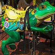 Frog Carrousel Ride Art Print
