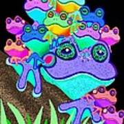 Frog Family Too Art Print