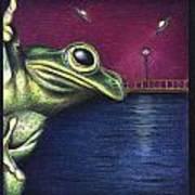 Frog Wars Art Print
