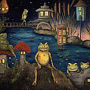 Frogland Art Print by Leah Saulnier The Painting Maniac