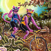 From Purple Cat Illustration 1 Art Print