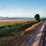 Train Through Illinois Art Print