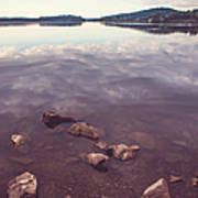 From The Depth Of Silence. Ladoga Lake  Art Print