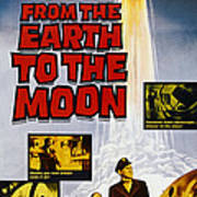 From The Earth To The Moon, Us Poster Art Print
