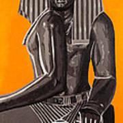 Front And Side Egyptian Pharoah Art Print