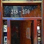 Front Door At The Cafe Nine Art Print
