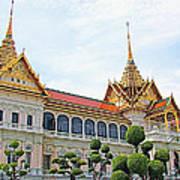 Front Of Reception Hall At Grand Palace Of Thailand In Bangkok Art Print