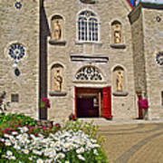 Front Of Sainte-famille Church On Ile D'orleans-qc Art Print