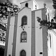 front of the church in Los Banquitos Tenerife Canary Islands Spain Art Print