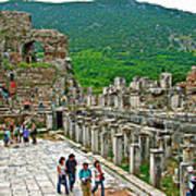 Front Of Theater In Ephesus-turkey Art Print