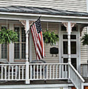 Front Porch Flag Art Print