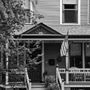 Front Porch Usa Black And White Art Print